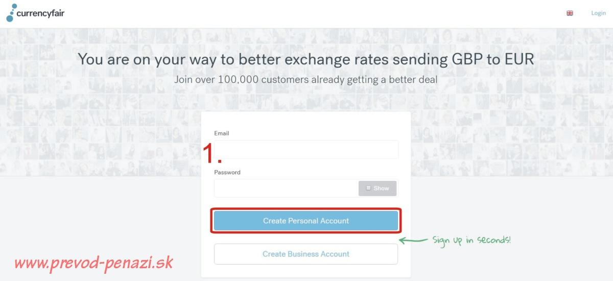 vytvorenie účtu currencyfair návod ako na lacný prevod peňazí do zahraničia