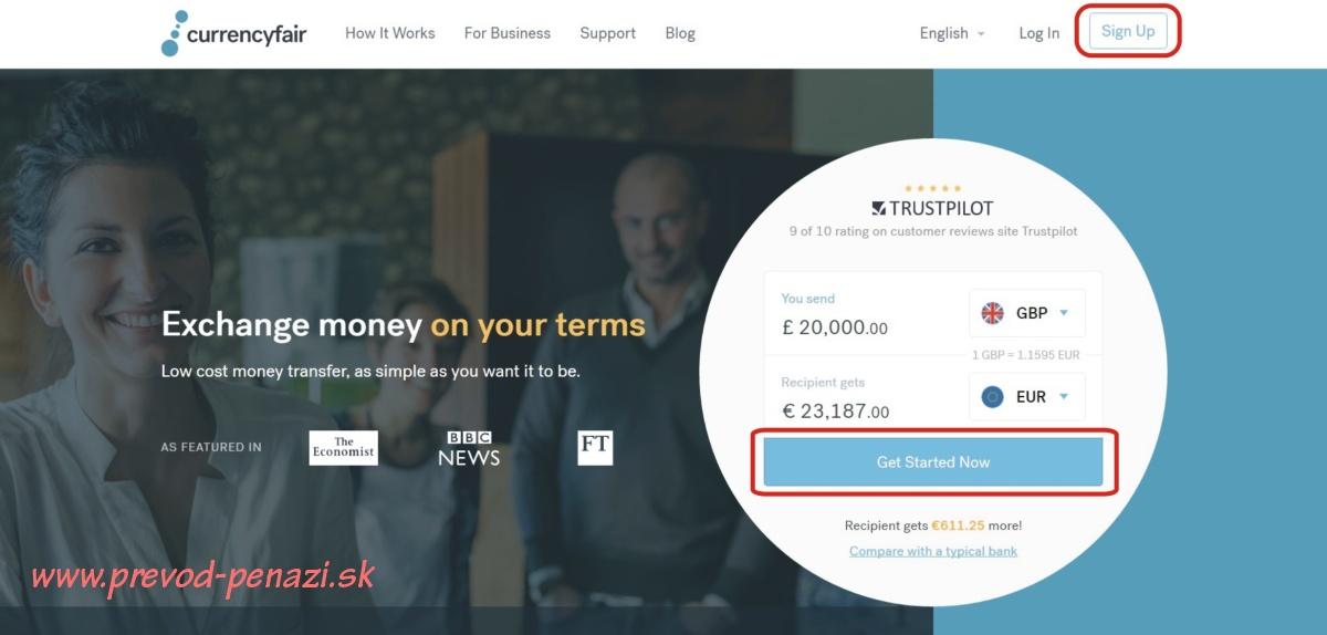 CurrencyFair návod registrácia ako ušetriť