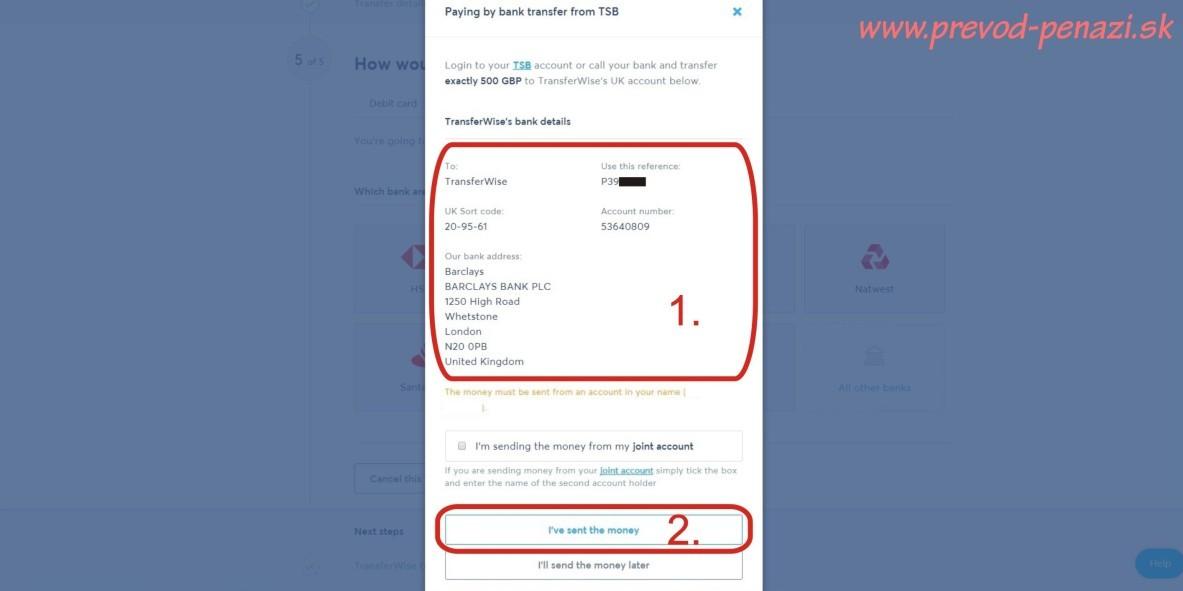 odoslanie platby internet bankingom