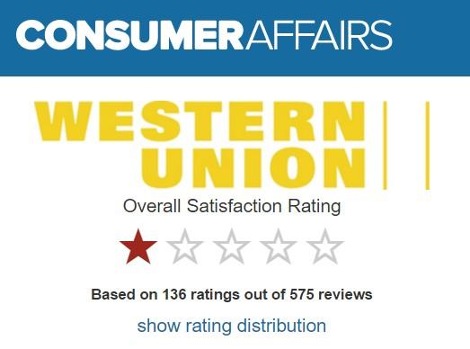 recenzie a sťažnosti na western union poplatky a dobru trvania prevodu