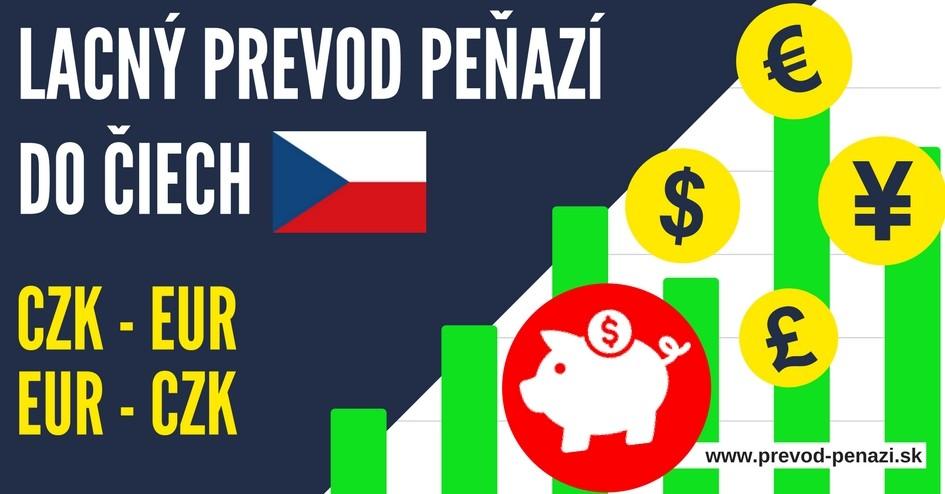prevod peňazí do čiech a prevod eur na czk