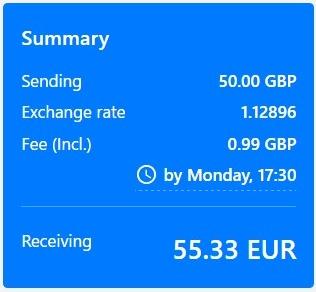 výmenný kurz je nižší ak je suma nižšia