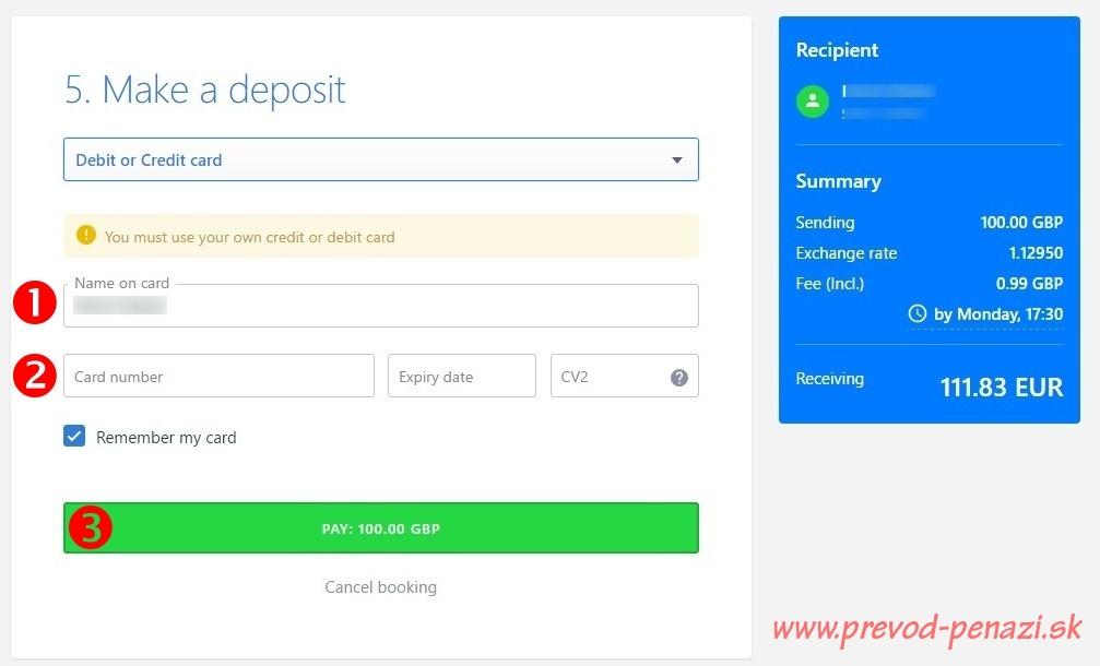 platba kreditnou a debetnou kartou