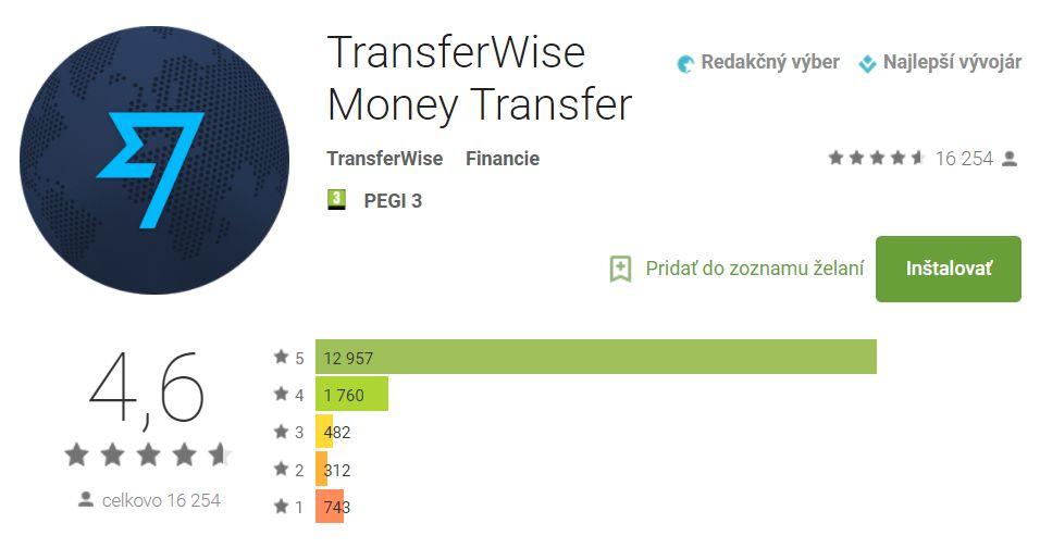 transferwise hodnotenie a skusenosti mobilnej aplikacie