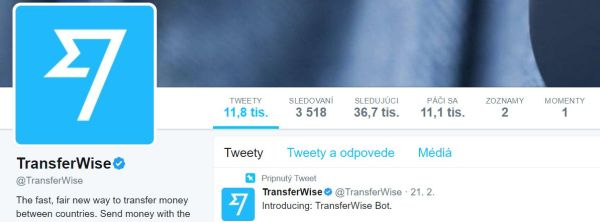 transferwise na twitteri